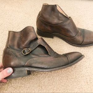 Leather Brown Hand crafted made in Portugal boots